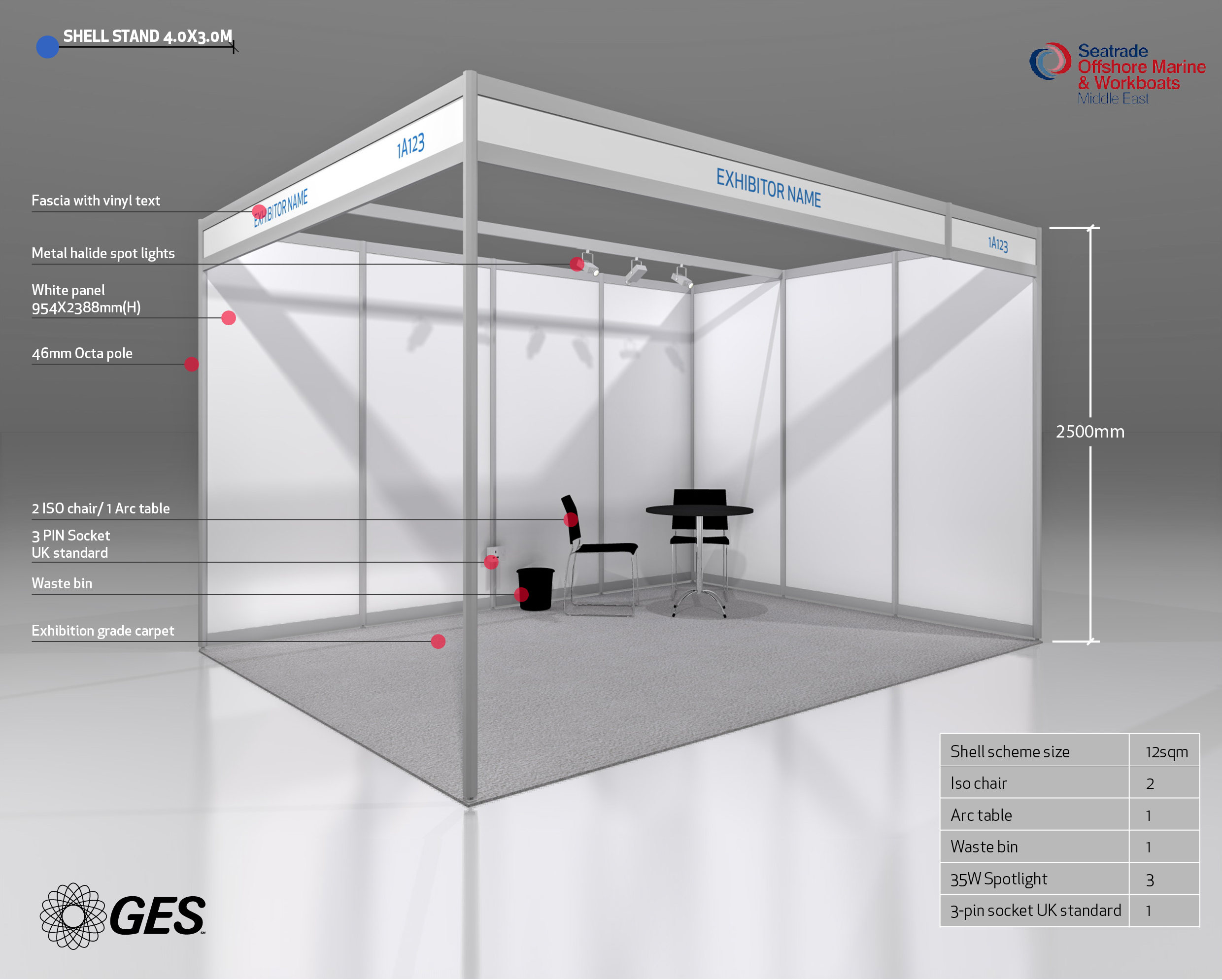 Exhibition Booth Standard Shell Scheme : Expresso by ges