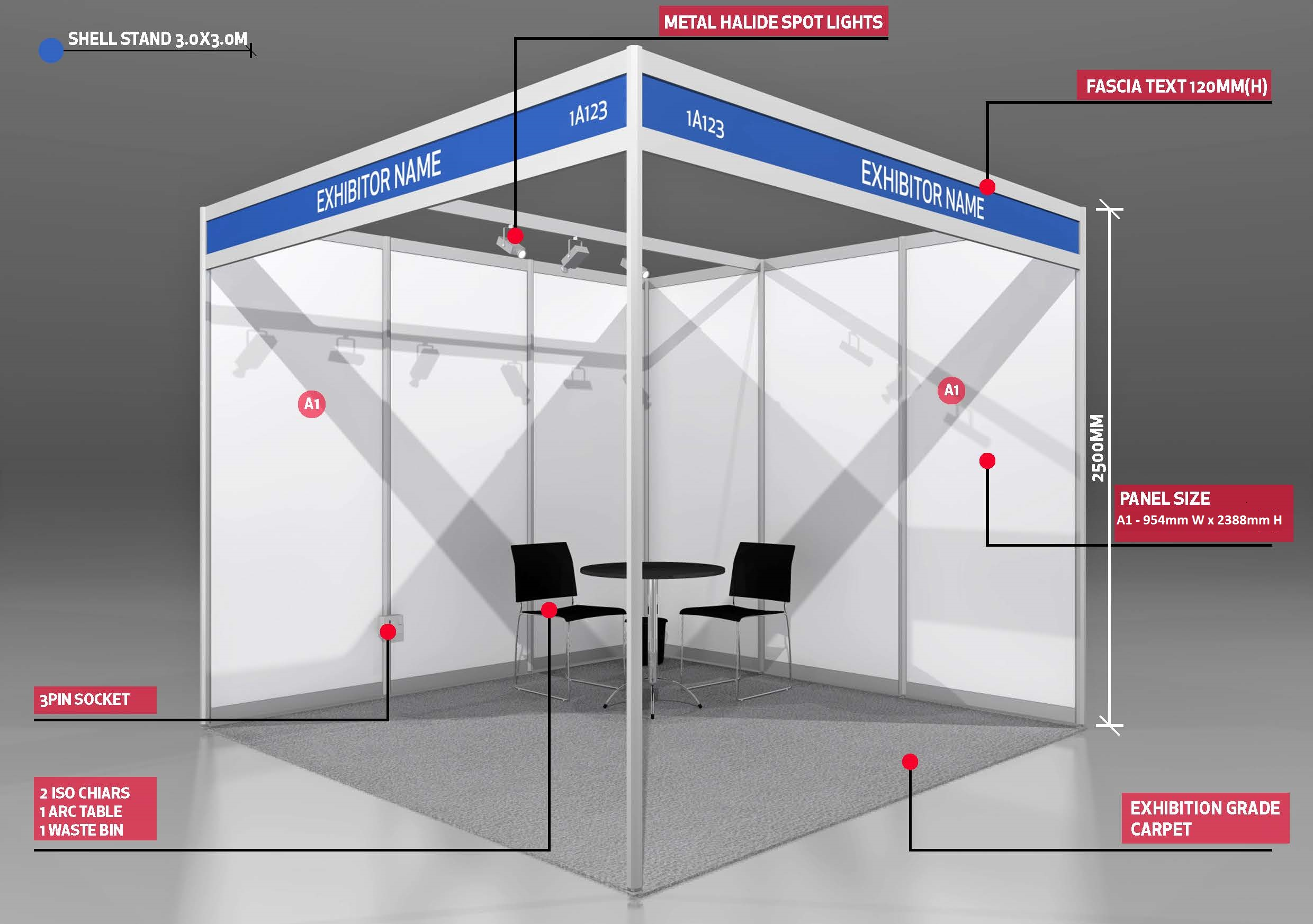 Exhibition Stand Shell Scheme : Expresso by ges